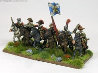 30 Years War miniatures in 15mm from Totentanz Arqueros a caballo