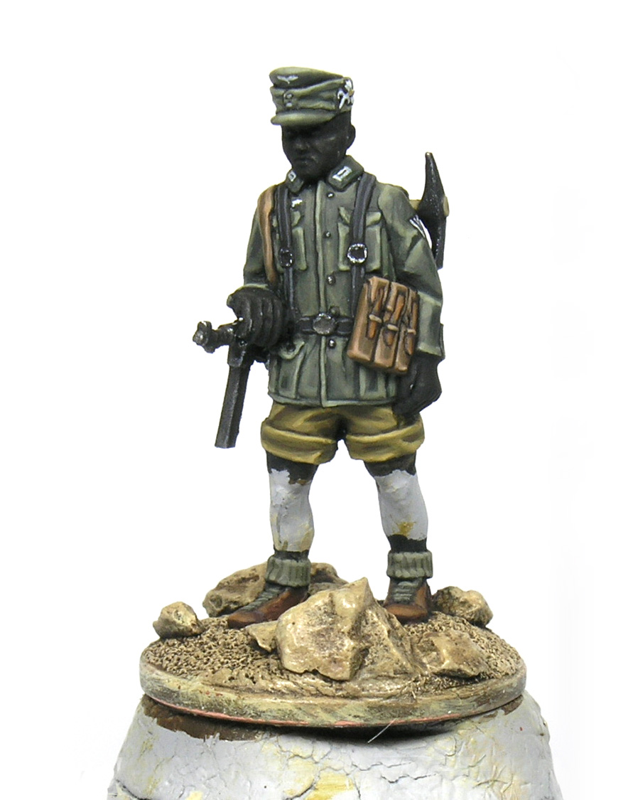 how to paint german gerbisjager 28mm Bolt action