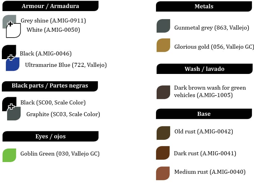 Colores Space Marine