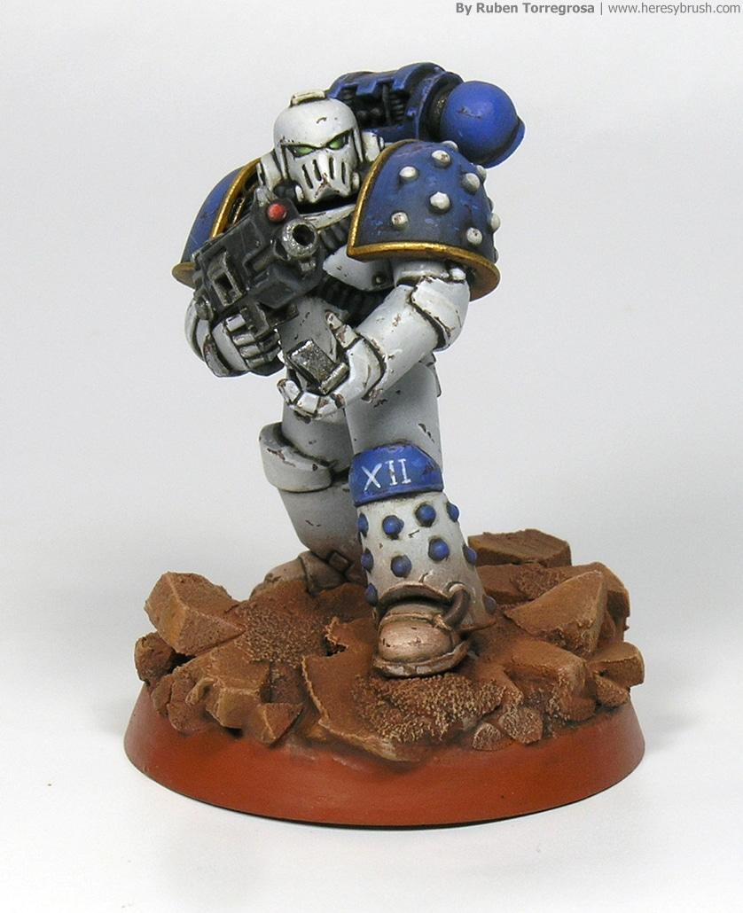 Painting Warhammer 30k Space Marines