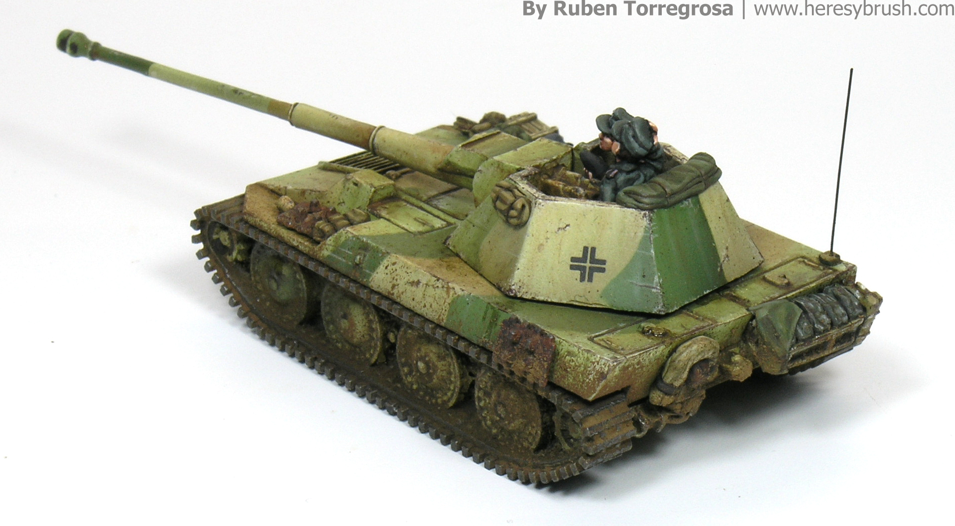 Painting 15mm tanks: Steyr tank – HeresyBrush
