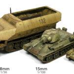 Guías de pintura de tanques de la 2GM en 12mm