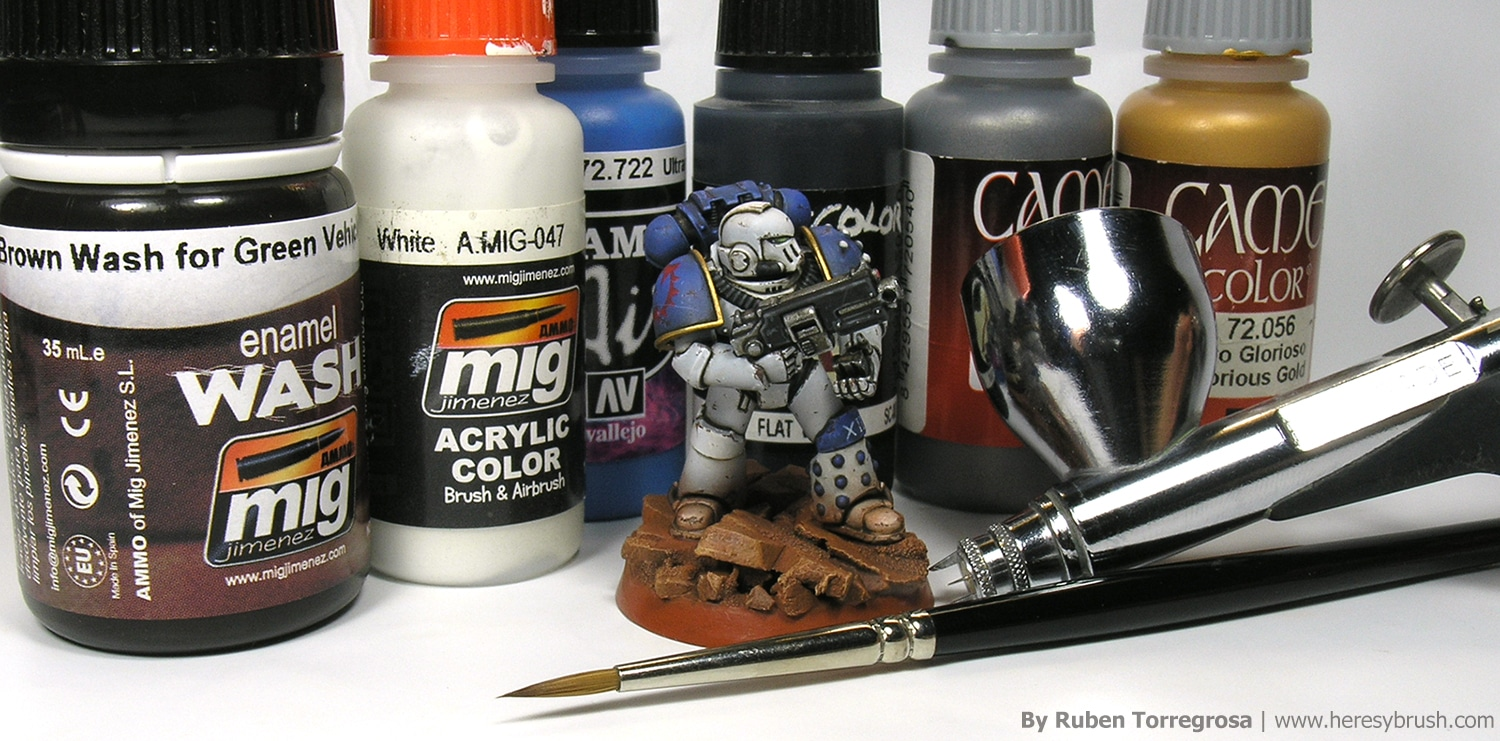 How to paintSpace Marine with airbrush