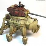 How to paint 15mm tanks: German spider mech